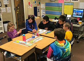 Secondary Students teach Elementary Students