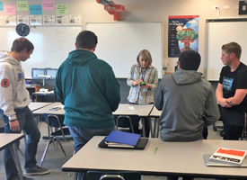 Personal Finance Class learns to deposit checks electronically