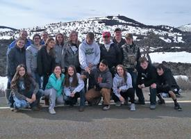 Biology class observe Sage Grouse