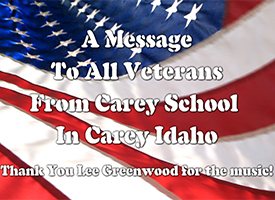 Special Veterans Day Message