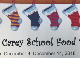 Carey School Food Drive