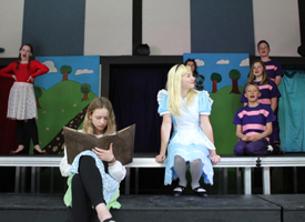 Students in Alice in Wonderland