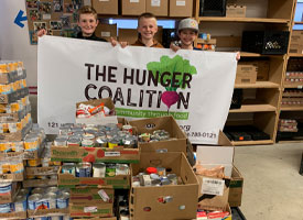 Donation to the Hunger Coalition
