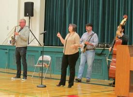 Blue Renditions Perform for Students