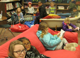 Library is a great place to gather with friends to read a good book.