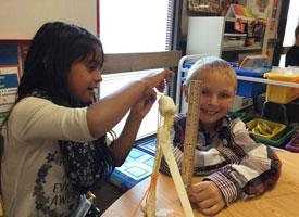 2nd Graders Build with Spaghetti