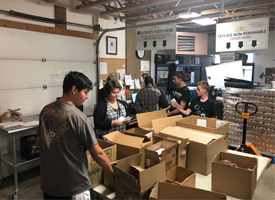 Students Giving a Helping Hand at the Hunger Coalition