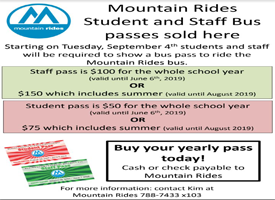 Mountain Ride Bus Pass