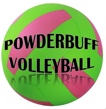 Pink and Green Volleyball