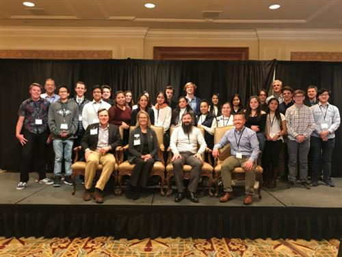 photo of students and sponsors at Sun Valley Development Economic Summit