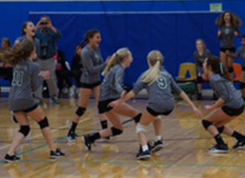 7th Grade Volleyball Stars Shine