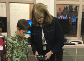 Dr. GwenCarol Holmes Engages Students at WRMS