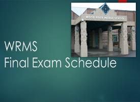 WRMS Final Exam Schedule