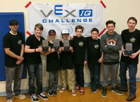 WRMS 6th & 7th Grade Robotics Team Takes State Tournament