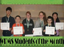 WRMS January Students of the Month