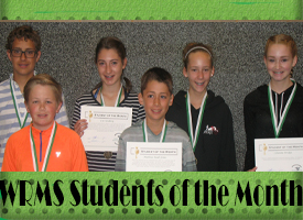 WRMS May Students of the Month