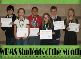 WRMS November Students of the Month