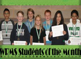 WRMS October Student's of the Month