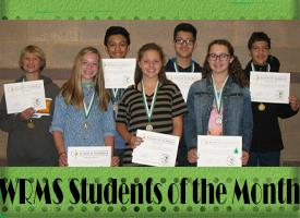 WRMS September Students of the Month