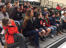 Veterans Spend Time with 7thGraders