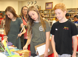 Students at Bookfair