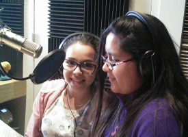 Students at KDPI FM Radio