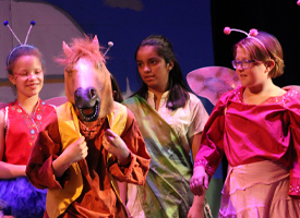 WRMS students performing Midsummer Nights's Dream
