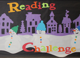 Join WRMS Library's Winter Break Reading Challenge