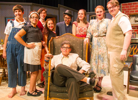 Wood River High School Drama Students on stage for a play