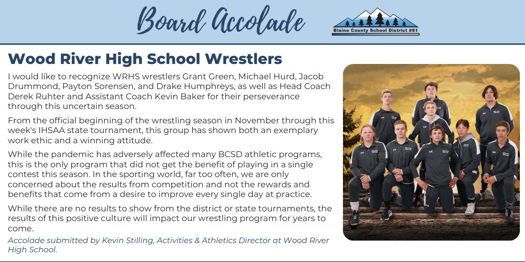 Board Accolade: Wood River High School Wrestlers