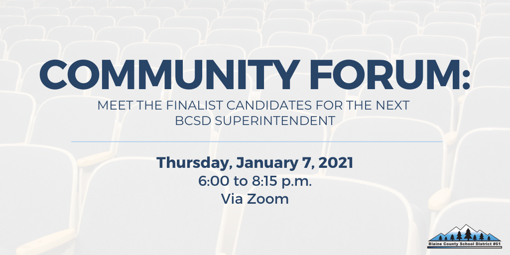 Community Forum with Superintendent Finalists