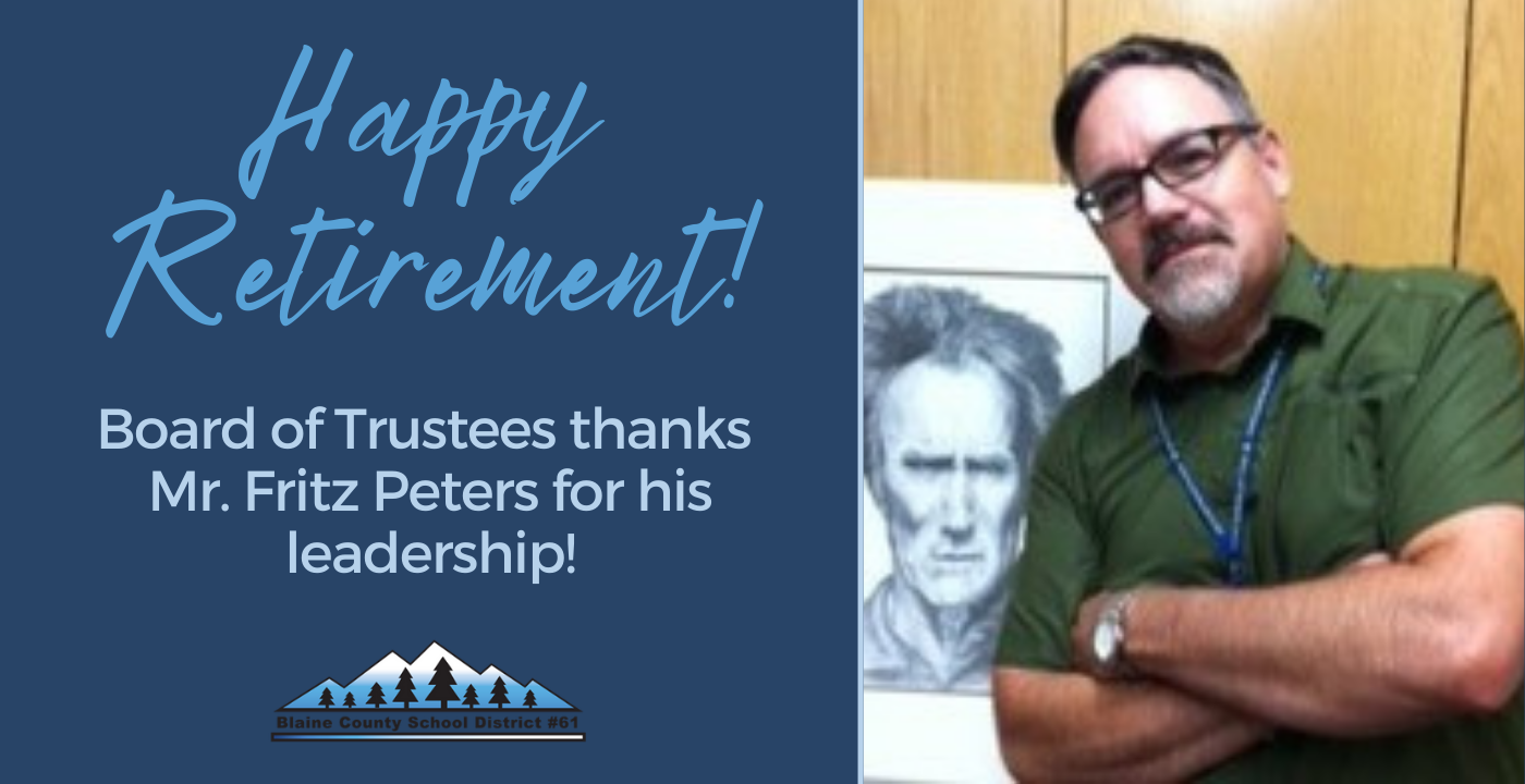 Happy Retirement! Board of Trustees thanks Mr. Fritz Peters for his leadership!