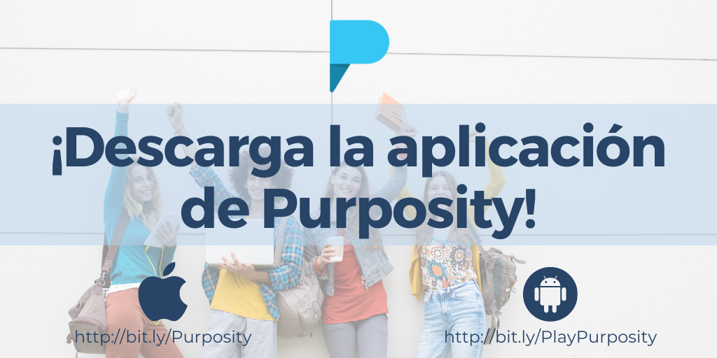 ¡Descarga la aplicación de Purposity!