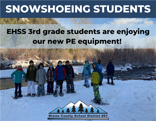 Snowshoeing Students