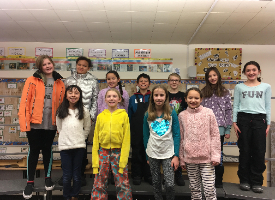 photo of Bellevue Elementary students selected for all-state choir