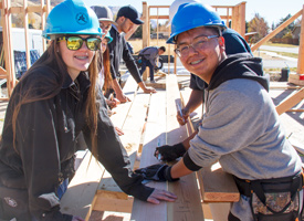 Wood River High School Construction Academy Students