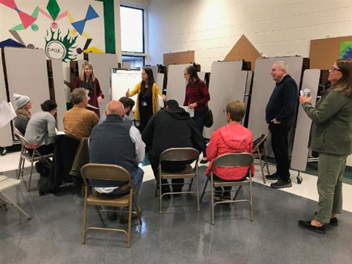 public meeting at Hailey Elementary School