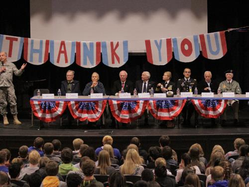 Veterans Day at Wood River High School 2014