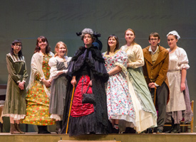students performing the play Little Women
