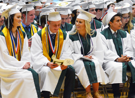 Wood River High School Graduates at graduation.