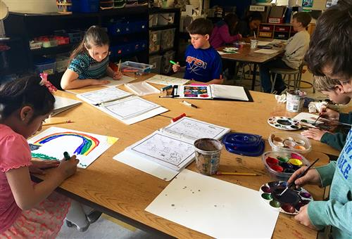 Bellevue Elementary Art and Poetry Night
