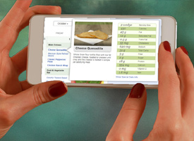 Nutrislice online menu being viewed on a smart phone