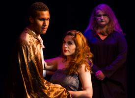 Wood River High School Drama Students acting during a performance of  Macbeth