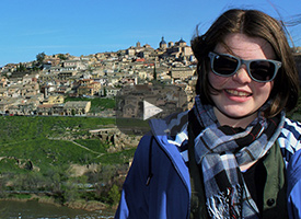 Wood River Middle School student in Spain