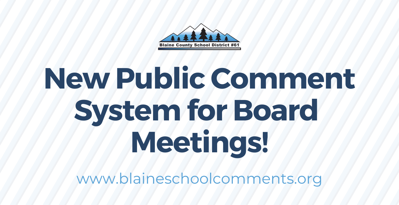 New Public Comment System for Board Meetings