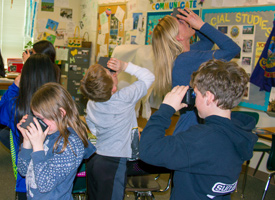 Alturas Students and teacher using virtual reality