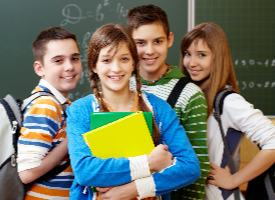 stock photo of middle school students