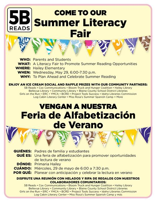 poster of literacy fair