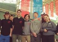 students at world robotics competition