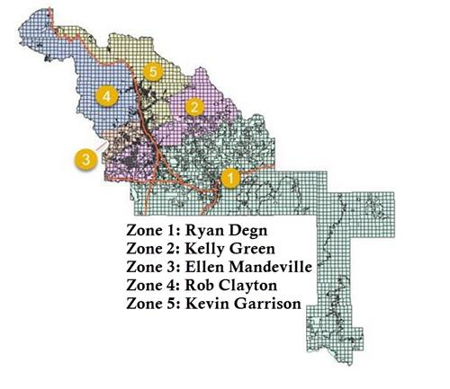 BCSD Trustee Zone Map